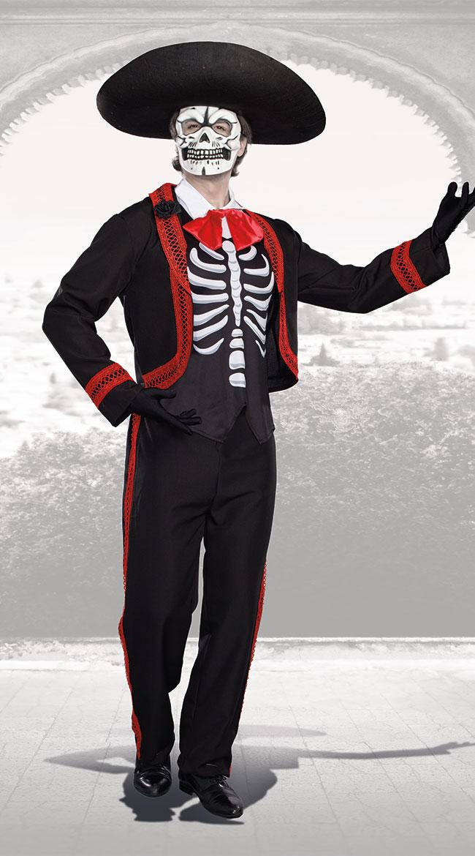 メンズ デュード オブ デッドコスチューム 3点セット 男性用 コスプレ衣装 (二次会、仮装、パーティー、ハロウィン)大人男性用