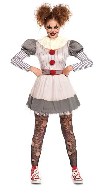 クリーピークラウン レディースコスチューム 2点セット LEG AVENUEレッグアベニューコスプレ衣装 かわいい 仮装・ハロウィン・パーティー 大人女性