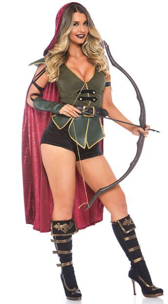 魅惑的 ラヴィシング ロビンフッド レディースコスチューム 5点セット LEG AVENUEレッグアベニューコスプレ衣装 かわいい 仮装・ハロウィン・パーティー 大人女性