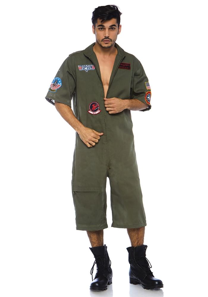 トップガン フライトスーツ ロンパース メンズコスチューム LEG AVENUEレッグアベニューコスプレ衣装 仮装・ハロウィン・パーティー 大人男性