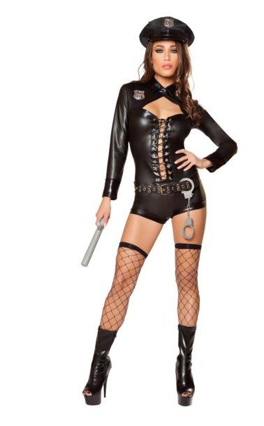 コード4 ポリス 6点セット 女性用 コスプレ衣装 (二次会、仮装、パーティー、ハロウィン)大人女性用