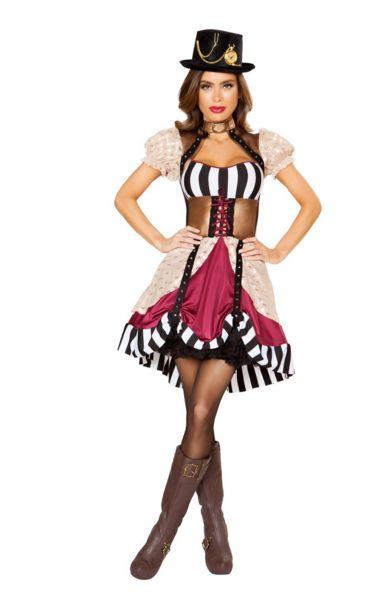 サッシー スチームパンク レディースコスチューム 女性用 コスプレ衣装 (二次会、仮装、パーティー、ハロウィン)大人女性用