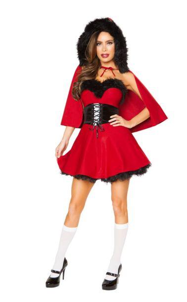 リトルレッドダムセル レディースコスチューム 3点セット 女性用 コスプレ衣装 (二次会、仮装、パーティー、ハロウィン)大人女性用