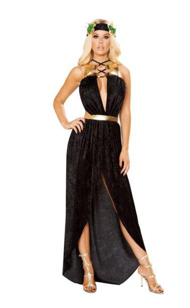グリークゴッドネス レディースコスチューム 2点セット 女性用 コスプレ衣装 (二次会、仮装、パーティー、ハロウィン)大人女性用