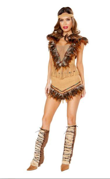 チェロキー インスパイアド ホッティー レディースコスチューム 3点セット 女性用 コスプレ衣装 (二次会、仮装、パーティー、ハロウィン)大人女性用