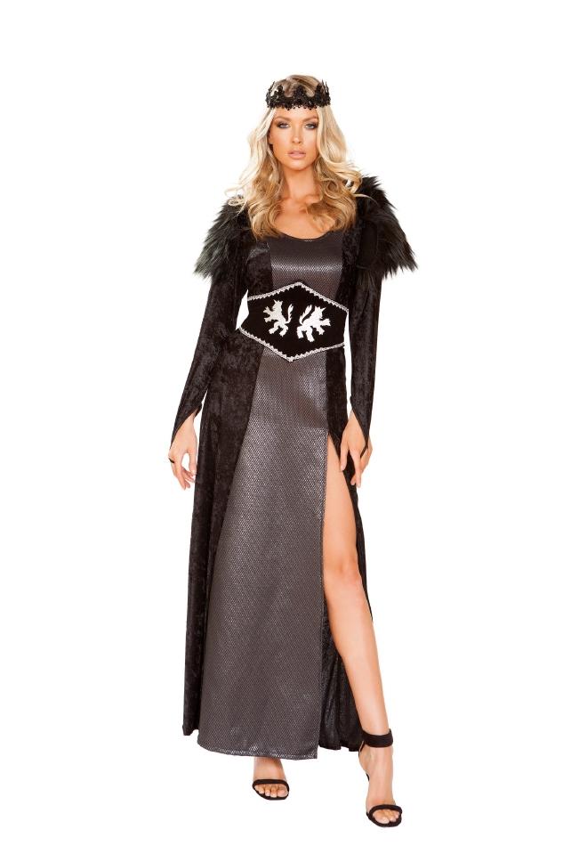 ダークキングダム クィーン 闇の帝国 女王 2点セット ハロウィン コスチューム 仮装 大人女性レディース Roma