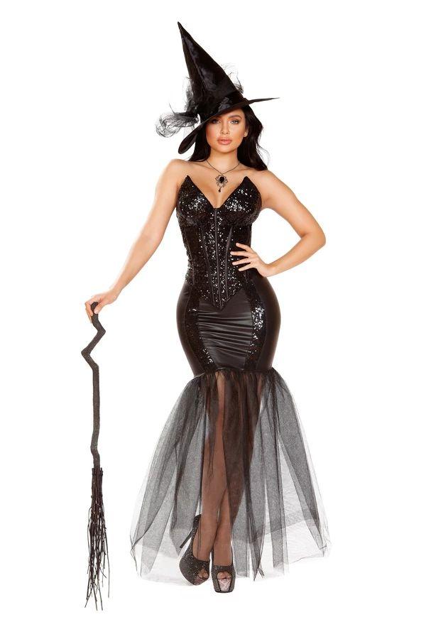 ウィッチ ウィズ イヴィル スペル 3点セット ハロウィン コスチューム 仮装 大人女性レディース Roma