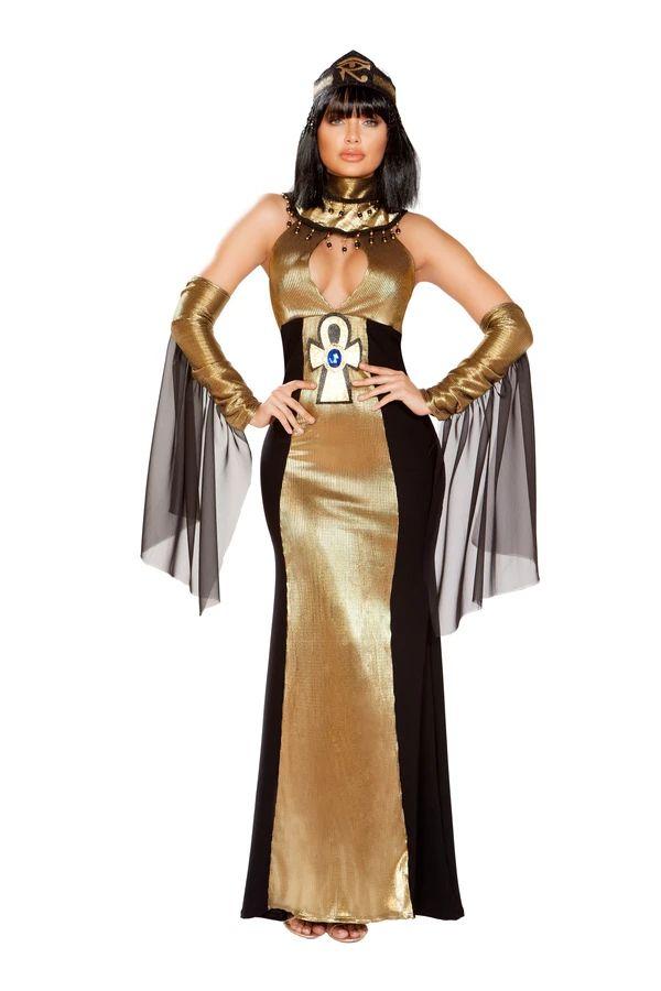 ルーラー オブ エジプト エジプトの支配者 女王 4点セット ハロウィン コスチューム 仮装 大人女性レディース Roma