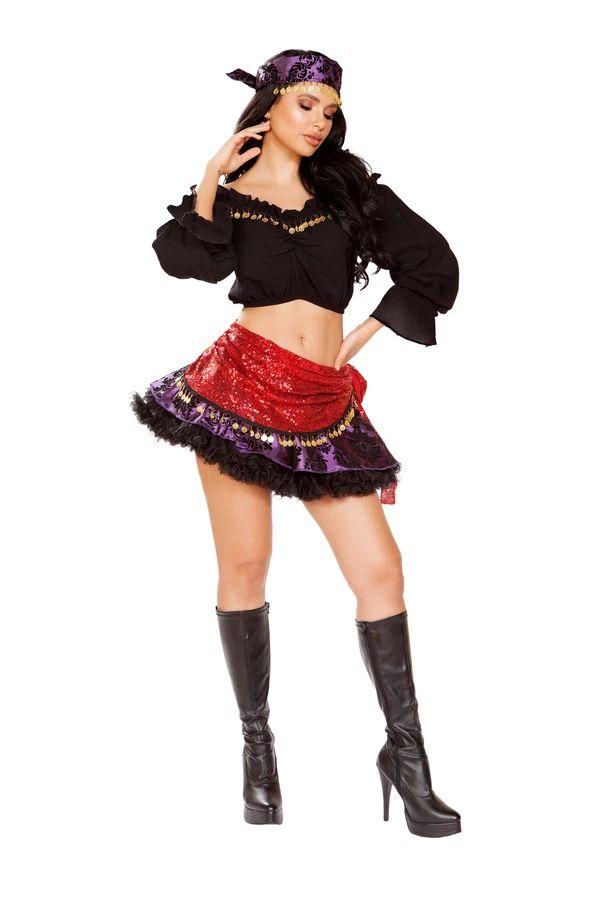 トラベリングジプシー 4点セット ハロウィン コスチューム 仮装 大人女性レディース Roma