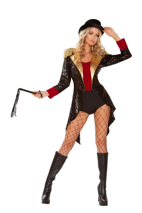 リングマスター オブ サーカス 団長4点セット ハロウィン コスチューム 仮装 大人女性レディース Roma