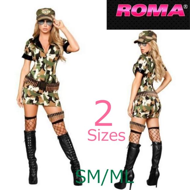4393ミリティアベイブ 3ピースセット /Roma Costumeローマコスチューム コスプレ衣装 (二次会、結婚式、仮装、パーティー、宴会、ハロウィン) 女性 大人用