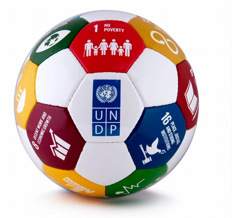 UNDP 国連本部限定 SDG サッカーボール UN 正規品