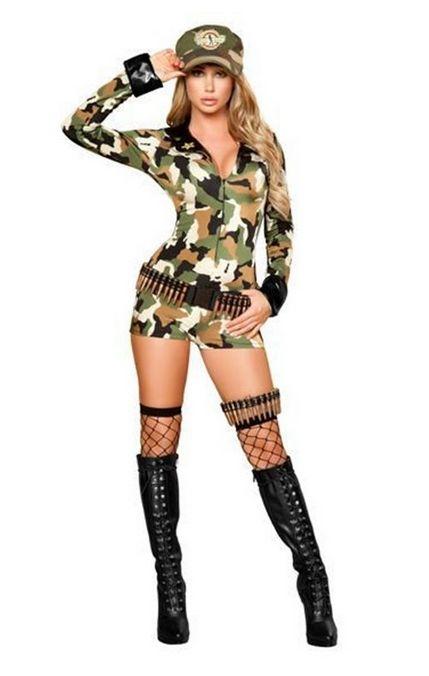 4386セクシーソルジャー 3ピースセット パーティー ハロウィン 衣装 /Romaローマコスチューム コスプレ・仮装・ハロウィン・女性・大人用