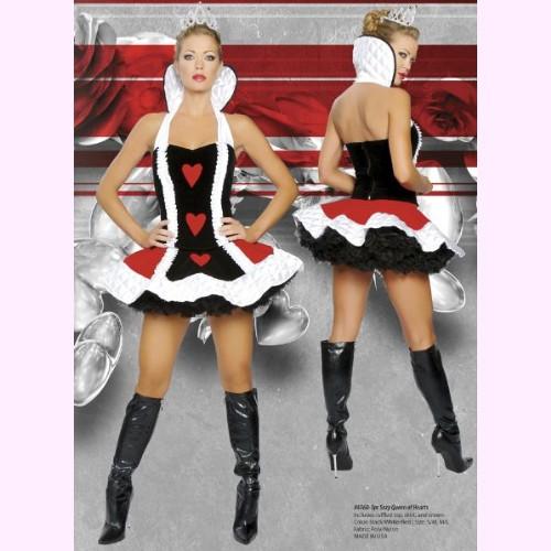 4060 ハートの女王 3ピースセット パーティー ハロウィン 衣装 /Roma Costumeローマ コスプレ・仮装・ハロウィン・女性・大人用