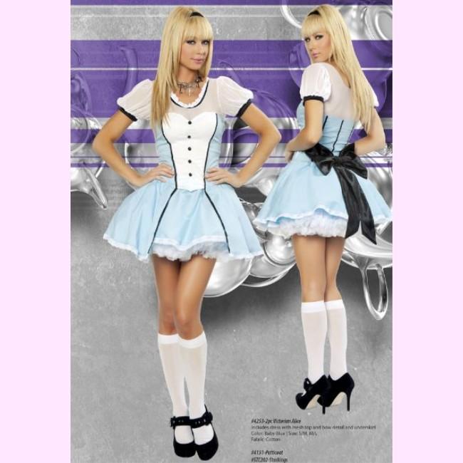 4253 ビクトリアンアリス 2ピースセット パーティー ハロウィン 衣装 /Roma Costumeローマ コスプレ・仮装・ハロウィン・女性・大人用【動画あり】