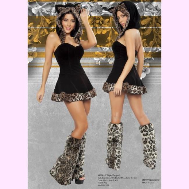 4274 プレイフルキャット ネコ パーティー ハロウィン 衣装 /Roma Costumeローマ コスプレ・仮装・ハロウィン・女性・大人用