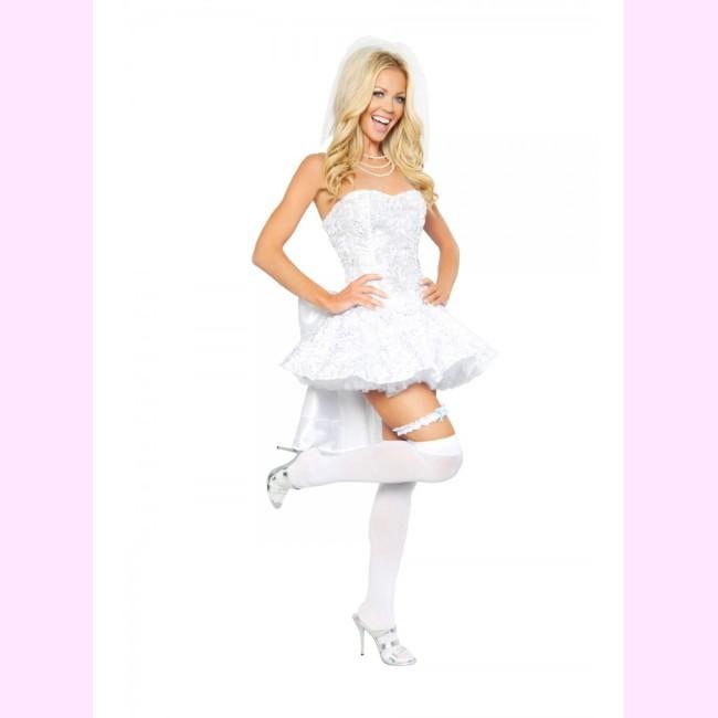 4293 ファンタジーブライド 花嫁 4ピースセット パーティー ハロウィン 衣装Roma Costumeローマ コスプレ・8PkXnw0O