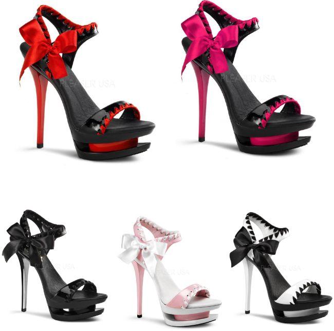 BLONDIE-615 6インチ(約15cm) ハイヒール ピンヒール ミュール厚底サンダル /Pleaserプリーザー パーティードレス 靴 大きいサイズ