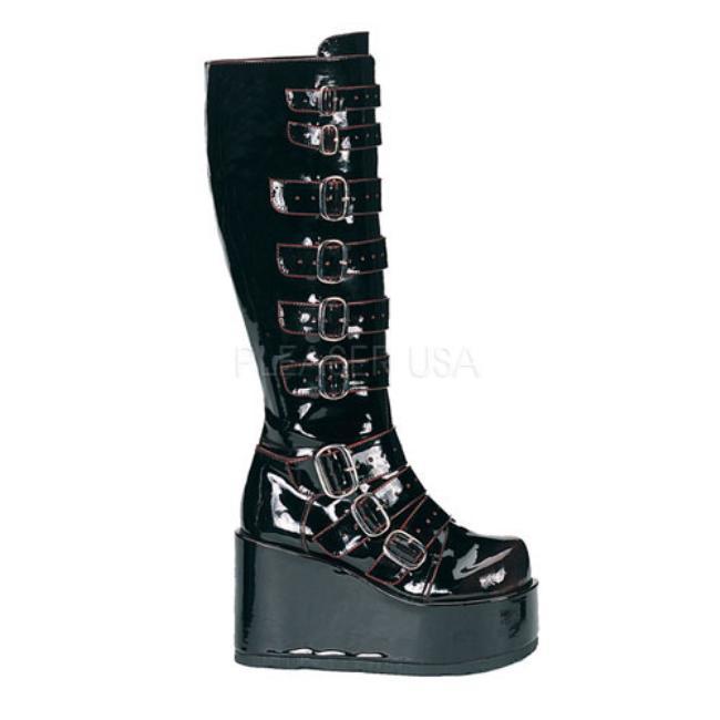 CONCORD-108 4.25インチ(約11cm)ヒール ベガン ブーツ/Pleaserプリーザー DEMONIAデモニア ゴスロリ パンク ロック 靴 大きいサイズ
