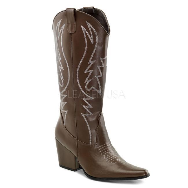 COWBOY-200 ブーツ カウボーイ 3インチ(約7.5cm)ヒール /Pleaserプリーザー コスプレ靴 ハロウィン 仮装 大きい