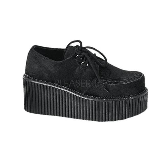 CREEPER-202 3インチ(約7.5cm) ヒール クリーパーシューズ/Pleaserプリーザー DEMONIAデモニア ゴスロリ パンク ロック 靴 大きいサイズ
