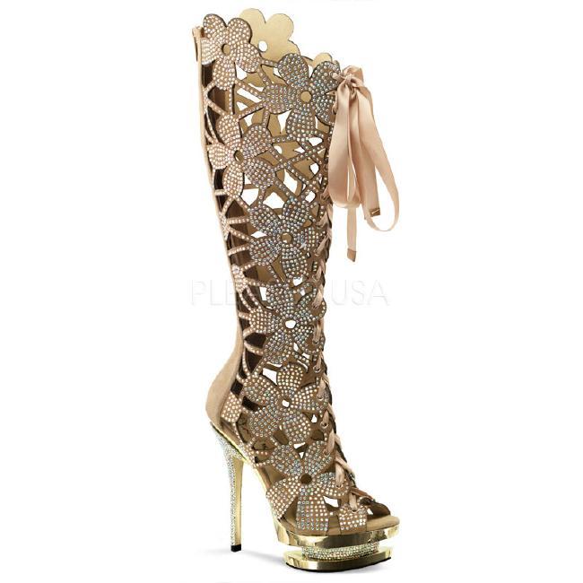 FANTASIA-2020 6インチ(約15cm) ハイヒール ブーツバックジップ/PleaserプリーザーDay & Night パーティー 靴 シンデレラサイズ 大きい
