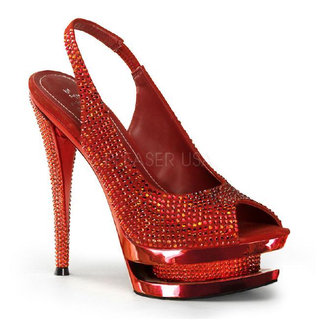 FASCINATE-654DM 6インチ(約15cm) ハイヒール ミュール サンダル ラインストーン/PleaserプリーザーDay & Night パーティー 靴 シンデレラサイズ 大きい
