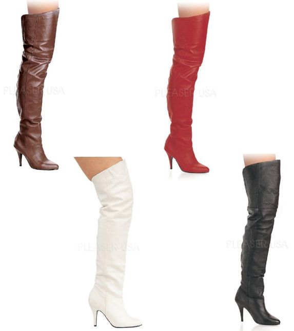 LEGEND-8868 4インチ(約10cm) サイハイブーツ /Pleaserプリーザー パーティードレス 靴 大きいサイズ