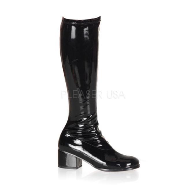 RETRO-300 ブーツレトロ 2インチ(約5cm)ヒール /Pleaserプリーザー コスプレ靴 ハロウィン 仮装 大きい