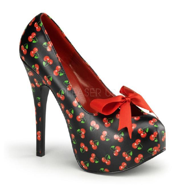 TEEZE-12-6 5.75インチ(約14.5cm) ハイヒール パンプス 派手柄/Pleaserプリーザー レトロな靴 パーティー シンデレラサイズ 大きい
