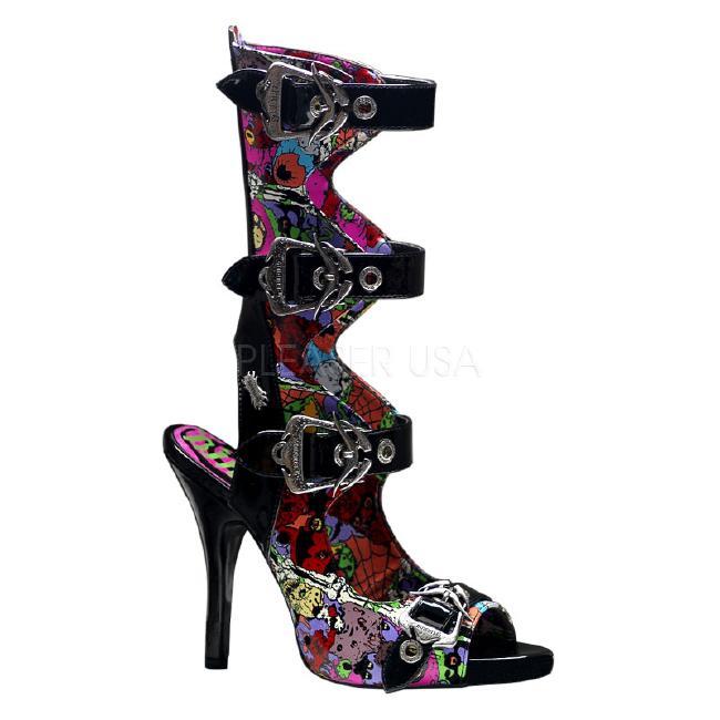 ZOMBIE-102 4.5インチ(約11.5cm)ヒール /Pleaserプリーザー DEMONIAデモニア ゴスロリ パンク ロック 靴 大きいサイズ