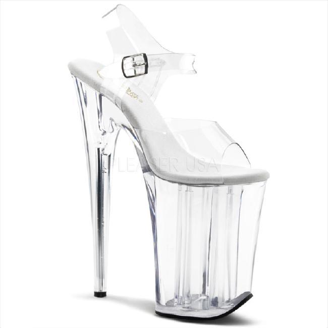 INFINITY-908 9インチ(約23cm) ハイヒール クリア ミュール サンダル/Pleaserプリーザー パーティー 靴 シンデレラサイズ 大きい