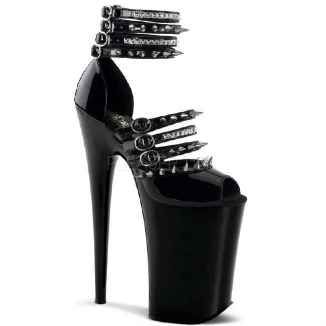 INFINITY-935 9インチ(約23cm) ハイヒール ミュール サンダル/Pleaserプリーザー パーティー 靴 シンデレラサイズ 大きい
