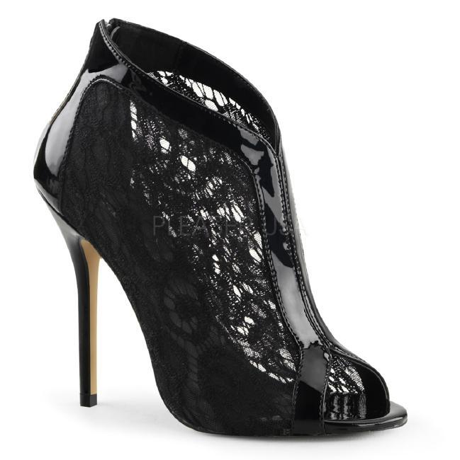 AMUSE-48 5インチ(約13cm) レースハイヒール 厚底サンダル /Pleaserプリーザー パーティー 靴 大きいサイズ