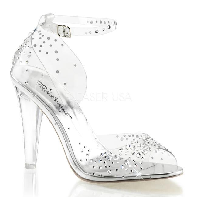 CLEARLY-430RS 4.5インチ(約11.5cm) ハイヒール クリア厚底サンダル /Pleaserプリーザー パーティー 靴 大きいサイズ