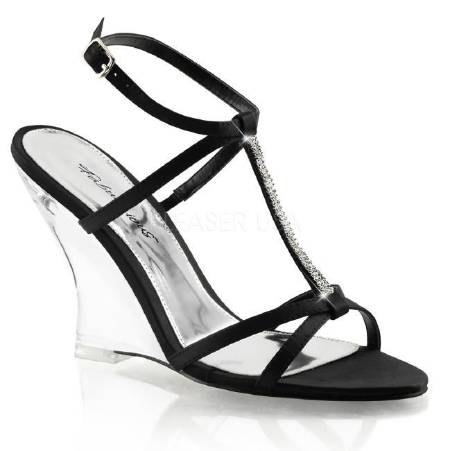 LOVELY-428 4インチ(約10cm) ウェッジ ヒール  クリア厚底サンダル /Pleaserプリーザー パーティー 靴 大きいサイズ