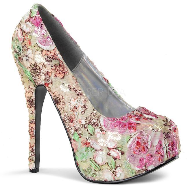 TEEZE-06-6 5.75インチ(約14.5cm) ハイヒール パンプス /Pleaserプリーザー パーティー 靴 大きい シンデレラサイズ