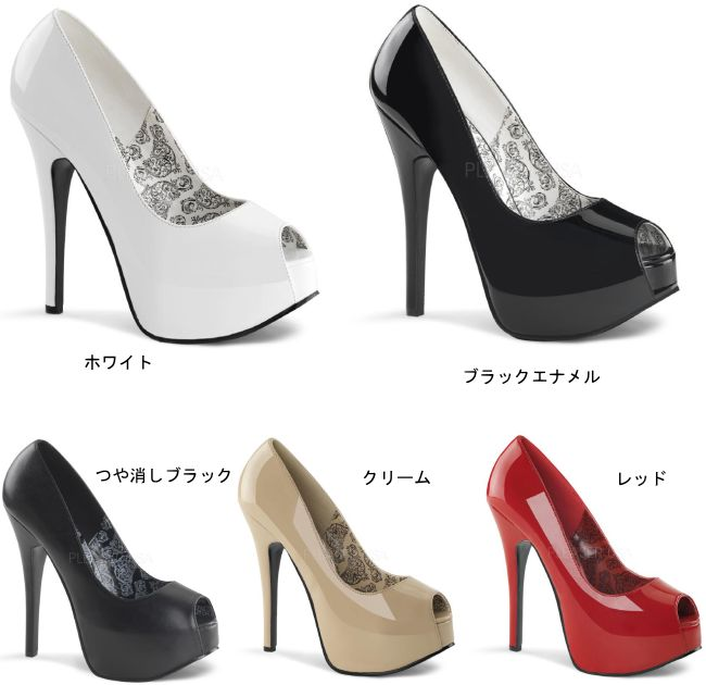 TEEZE-22 5.75インチ(約14.5cm)ハイヒール パンプス /Pleaserプリーザー パーティー 靴 大きい シンデレラサイズ