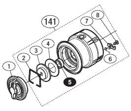 ●シマノ 12ヴァンキッシュ C2000HGS(02843)用 純正標準スプール (パーツ品番105) 【キャンセル及び返品不可商品】 【まとめ送料割】