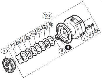 ●シマノ 12ヴァンキッシュ C3000(02848)用 純正標準スプール (パーツ品番105) 【キャンセル及び返品不可商品】 【まとめ送料割】