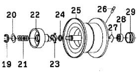 ●ダイワ SS SV103(4960652932790)用 純正標準スプール (部品コード129574) 【キャンセル及び返品不可商品】 【まとめ送料割】