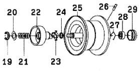 ●ダイワ SS SV103H(4960652932813)用 純正標準スプール (部品コード129574) 【キャンセル及び返品不可商品】 【まとめ送料割】