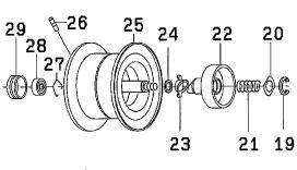 ●ダイワ SS SV103HL(4960652932820)用 純正標準スプール (部品コード129574) 【キャンセル及び返品不可商品】 【まとめ送料割】