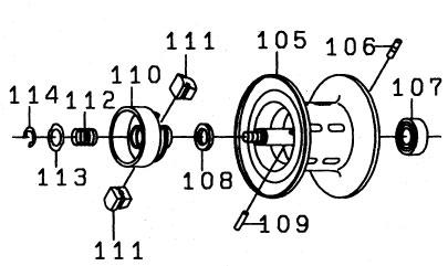 ●ダイワ Z2020H(4960652784269)用 純正標準スプール (部品コード129498) 【キャンセル及び返品不可商品】 【まとめ送料割】