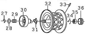 ●ダイワ T3 AIR6.8R-TW(4960652883986)用 純正標準スプール (部品コード129539) 【キャンセル及び返品不可商品】 【まとめ送料割】