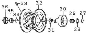●ダイワ T3 AIR6.8L-TW(4960652883993)用 純正標準スプール (部品コード129539) 【キャンセル及び返品不可商品】 【まとめ送料割】