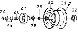 ●ダイワ T3 SV6.3R-TW(4960652915366)用 純正標準スプール (部品コード129553) 【キャンセル及び返品不可商品】 【まとめ送料割】