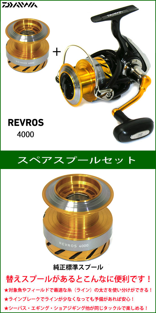 ●ダイワ 15 レブロス 4000 スペアスプール付きセット (部品コード128907) 【まとめ送料割】