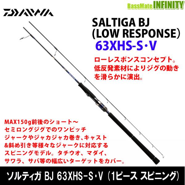●ダイワ ソルティガ BJ ローレスポンス 63XHS-S・V (1ピース スピニングモデル)