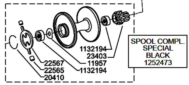 ●アブガルシア アンバサダー5501CA FCT TUNED(1360778)用 純正標準スプール (パーツID1252473) 【キャンセル及び返品不可商品】 【まとめ送料割】